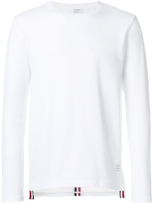 Thom Browne Center-Back Stripe Relaxed Pique Tee
