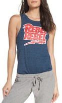 Chaser Women's David Bowie Rebel Rebel Lounge Muscle Tank