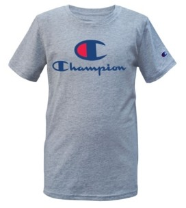"Champion Little Boys ""C"" Script Short Sleeve Tee"