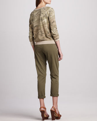 Current/Elliott The Letterman Camouflage Knit Top