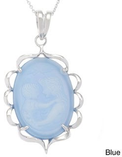 Kabella Jewelry Kabella Sterling Silver Cameo Adoring Parent Vintage Necklace