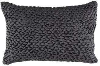 Decmode Modern 15 X 23 Inch Square Velvet Gray Pillow