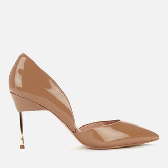 Kurt Geiger Women's Bond 90 Patent Leather Court Shoes - Nude