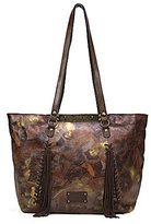 Patricia Nash Roman Goddess Collection Benvenuto Tasseled Whipstitch Tote