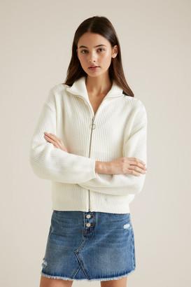Seed Heritage Zip Through Sweater