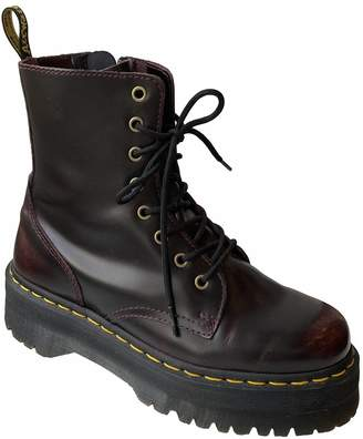 Dr. Martens Jadon Red Leather Ankle boots