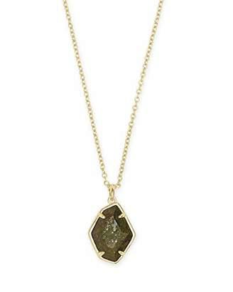 Kendra Scott Ellington Pendant Necklace in Olive Epidote