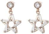 Betsey Johnson Star Drop Earrings (Crystal) Earring