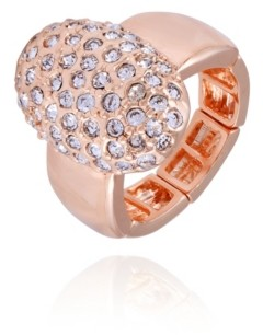 T Tahari Pave Fire Essential Stretch Ring