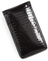 Boconi Men's Lizard Magnetic Money Clip - Black