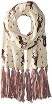 Muk Luks Women's Happy Glamper Basic Scarf-Deer