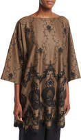 eskandar Lace-Embroidered 3/4-Sleeve Tunic