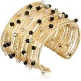 "Panacea Crystal Flexible Wire Gold Cuff Bracelet, 7"""