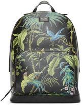 Gucci Men's Zaino Botanical Printed Leather Backpack In Black