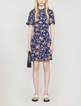 Whistles Prairie floral-print crepe mini dress