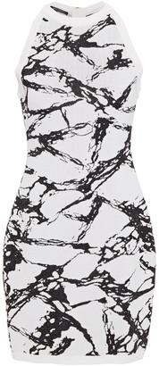 Balmain Metallic Jacquard-knit Mini Dress