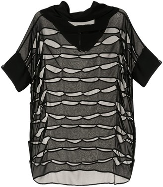 Taylor Continue cut-out sheer top