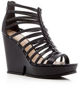 Via Spiga Walena Caged Platform Wedge Sandals
