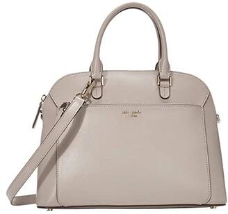 Kate Spade Louise Medium Dome Satchel (Black) Bags