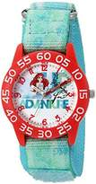 Disney Girl's 'Ariel' Quartz Plastic and Nylon Watch, Color:Green (Model: W002903)