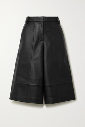 Tibi Leather Shorts - Black