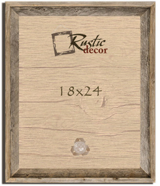 "Rustic Decor Llc Thurston Signature Rustic Barn Wood Reclaimed Wood Wall Frame, 18""x24"""