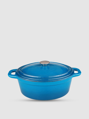 Berghoff Neo 8QT Cast Iron Covered Casserole Blue