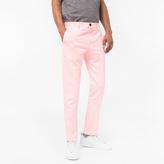 Paul Smith Men's Slim-Fit Light Pink Cotton-Linen Blend Chinos
