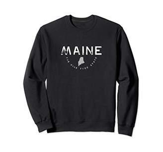 Maine The Pine Tree State Graphic Vintage Retro Sweatshirt