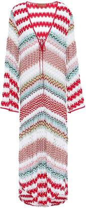 Missoni Mare Mare Lace-up Striped Crochet-knit Coverup