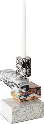 Tom Dixon Swirl marbled-effect candelabra