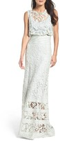 Tadashi Shoji Women's Lace Blouson Gown