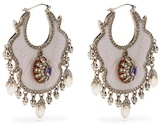 Alexander McQueen Crystal and pearl-embellished earrings