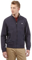 Fred Perry Big And Tall Navy Logo Embroidered Jacket