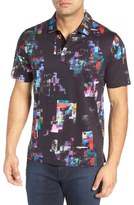 Bugatchi Print Cotton Polo Shirt