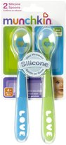 Munchkin Silicone Spoons - Blue/Green - 2 ct