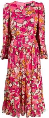Saloni Floral Print Maxi Dress