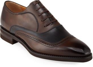 Bally Skentew Bicolor Leather Brogue Oxfords