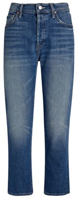 Mother The Scrapper Cropped Straight Jeans