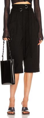 Proenza Schouler Wool Culotte Pant in Black | FWRD