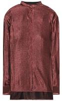 Haider Ackermann Wool and silk striped shirt