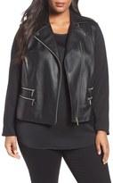 MICHAEL Michael Kors Plus Size Women's Michael Kors Faux Leather Jacket