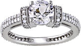 JCPenney FINE JEWELRY CT. T.W. Diamond & Lab-Created White Sapphire Engagement Ring