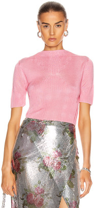 Paco Rabanne Sheer Short Sleeve Top in Pink | FWRD