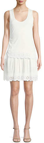 Derek Lam 10 Crosby Sleeveless Scoop-Neck Cotton Dress