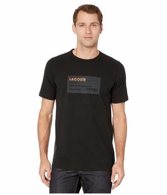 Lacoste Mens Sport Short Sleeve Rubber Label Life Logo T-Shirt T-Shirt