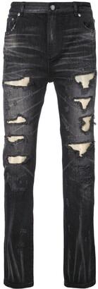 God's Masterful Children Ripped Fade Denim Jeans