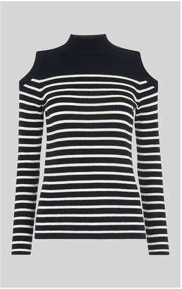 Whistles Cold Shoulder Button Sweater