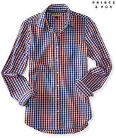 Aeropostale Womens Prince & Fox Long Sleeve Gingham Woven Shirt