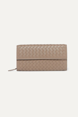 Bottega Veneta Intrecciato Leather Continental Wallet - Taupe